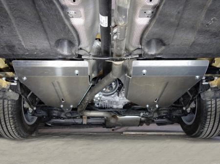 Volkswagen Tiguan 2017-Защита бака (алюминий) 4 мм (комплект 2шт)